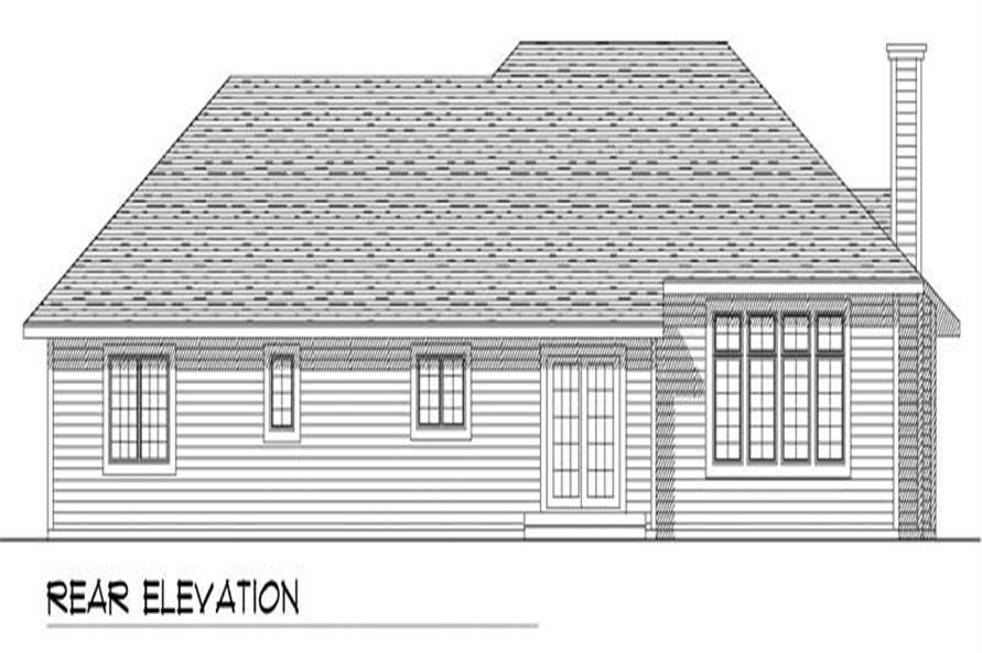 Home Plan Rear Elevation of this 3-Bedroom,2015 Sq Ft Plan -101-1812