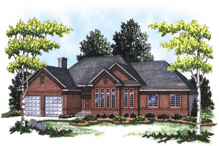 3-Bedroom, 2015 Sq Ft Ranch Home Plan - 101-1812 - Main Exterior
