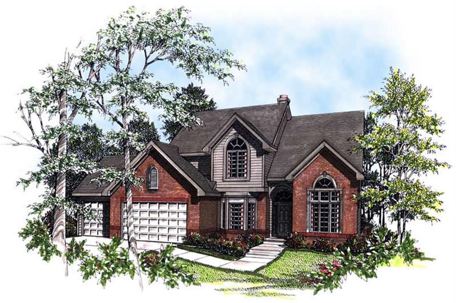4-Bedroom, 2800 Sq Ft Craftsman Home Plan - 101-1815 - Main Exterior