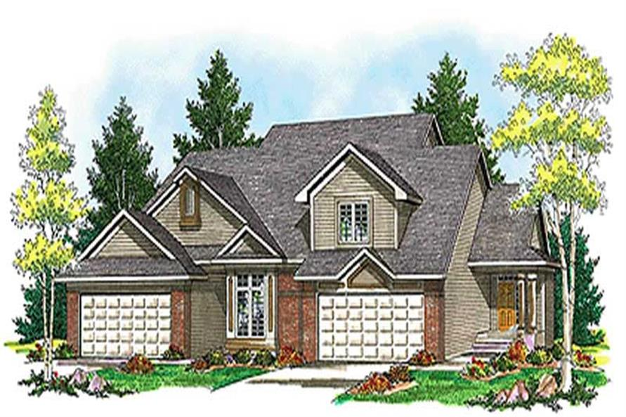 2-Bedroom, 3017 Sq Ft Multi-Unit House Plan - 101-1817 - Front Exterior