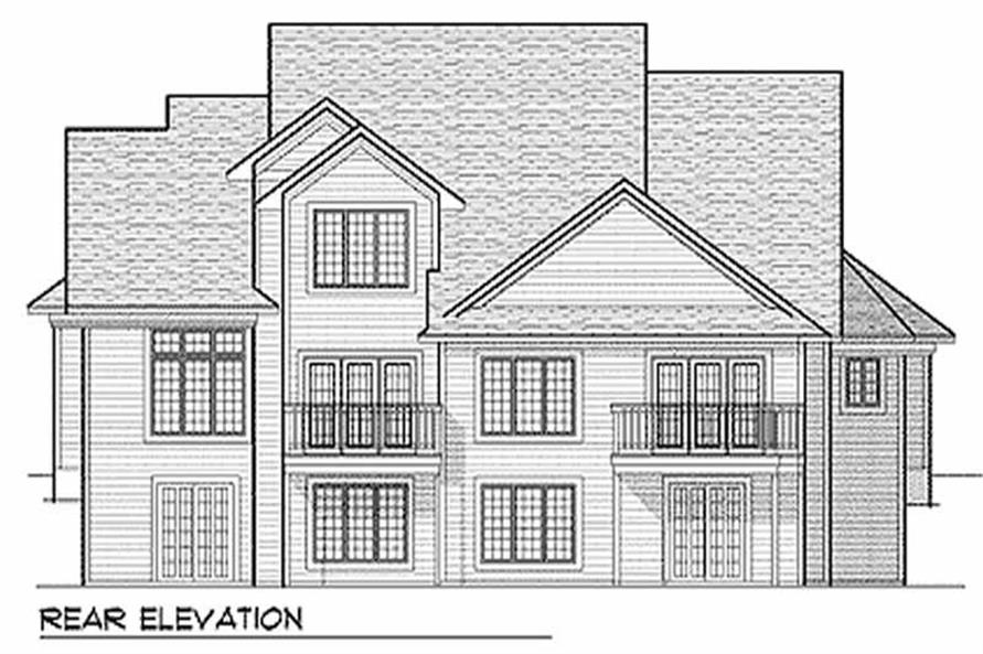 Home Plan Rear Elevation of this 2-Bedroom,3017 Sq Ft Plan -101-1817