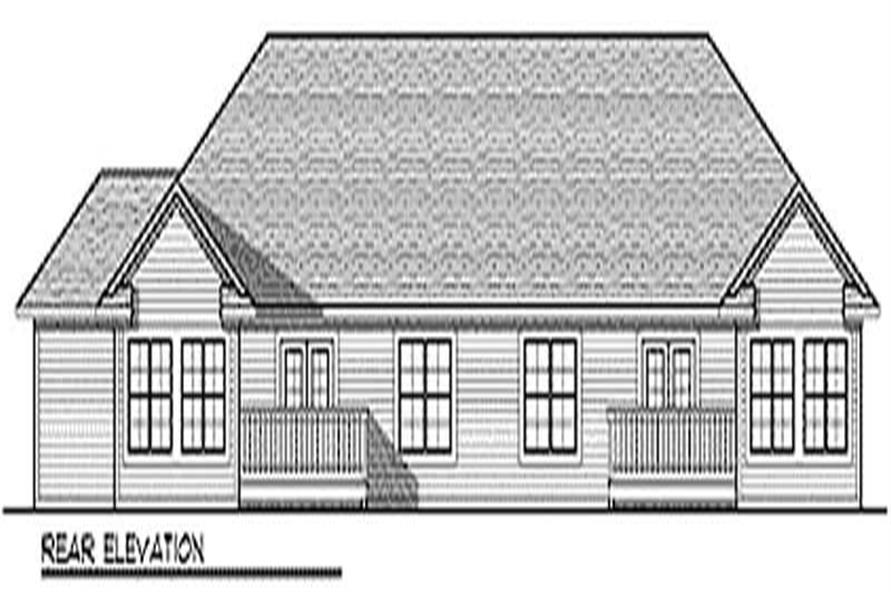 Home Plan Rear Elevation of this 2-Bedroom,3126 Sq Ft Plan -101-1820