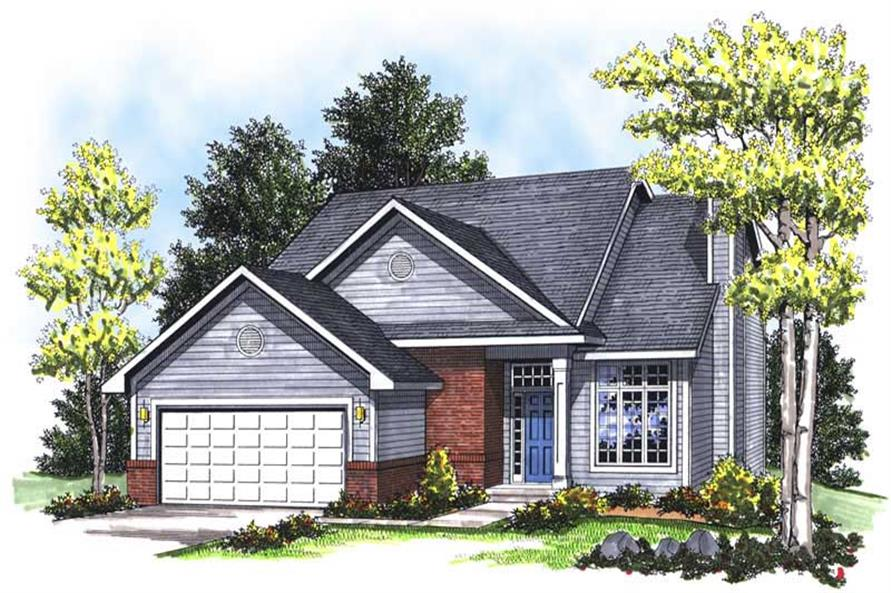 4-Bedroom, 1683 Sq Ft Ranch Home Plan - 101-1822 - Main Exterior