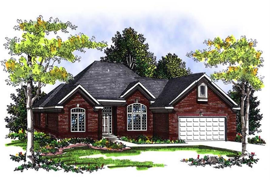 4-Bedroom, 3050 Sq Ft Ranch House Plan - 101-1825 - Front Exterior