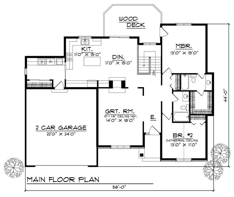 House Design 101: Country Home With 2 Bdrms, 1537 Sq Ft