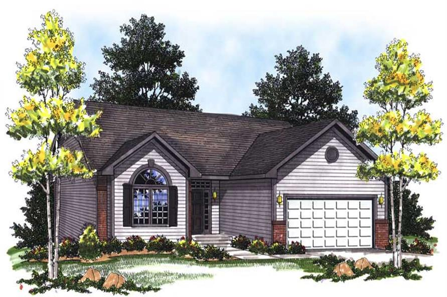 2-Bedroom, 1306 Sq Ft Ranch House Plan - 101-1829 - Front Exterior