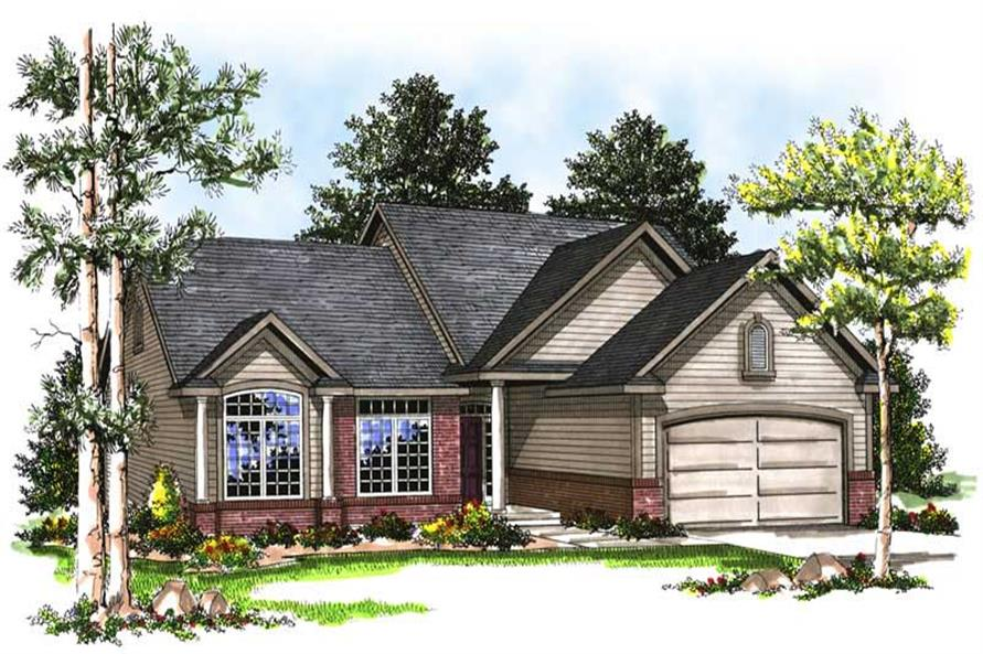 3-Bedroom, 1519 Sq Ft Ranch House Plan - 101-1830 - Front Exterior