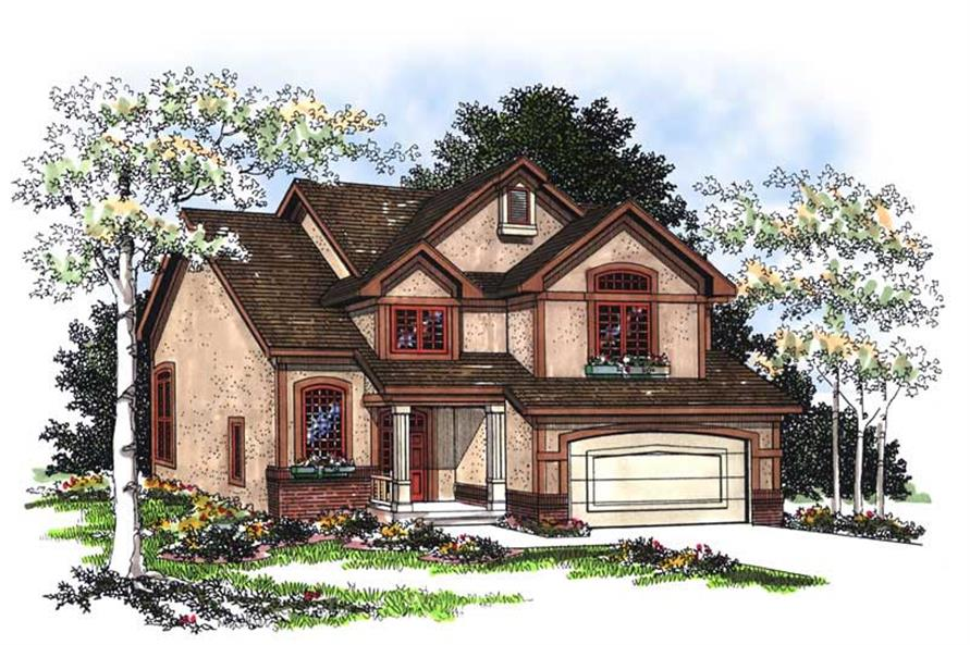 4-Bedroom, 2596 Sq Ft Country Home Plan - 101-1833 - Main Exterior