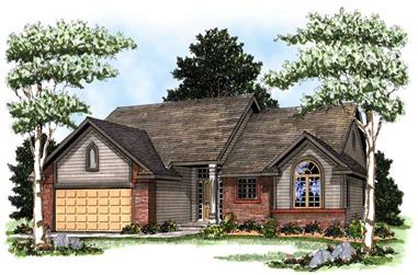 2-Bedroom, 1346 Sq Ft Ranch House Plan - 101-1835 - Front Exterior
