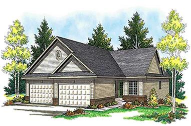 2-Bedroom, 3122 Sq Ft Multi-Unit House Plan - 101-1837 - Front Exterior