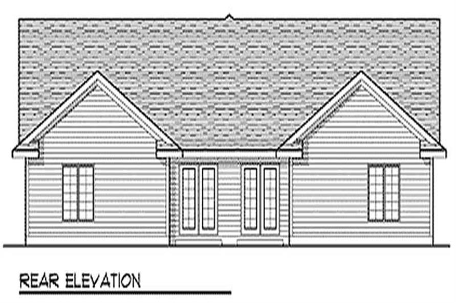 Home Plan Rear Elevation of this 2-Bedroom,3122 Sq Ft Plan -101-1837
