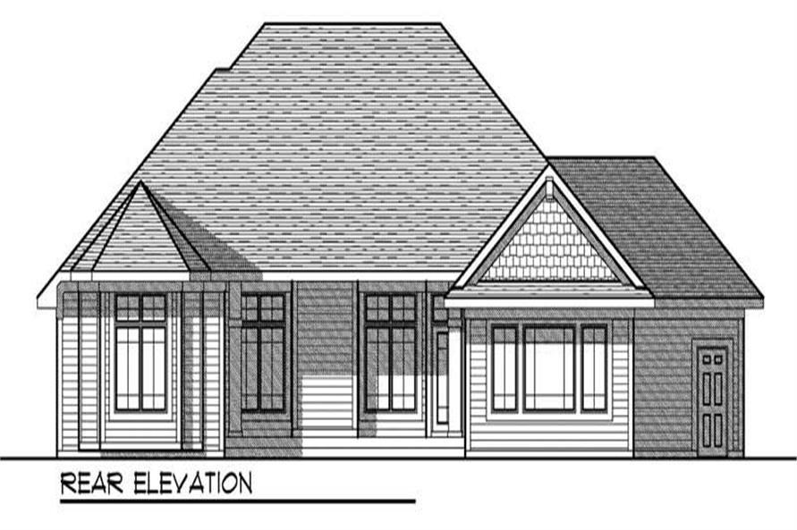 Home Plan Rear Elevation of this 2-Bedroom,2233 Sq Ft Plan -101-1838
