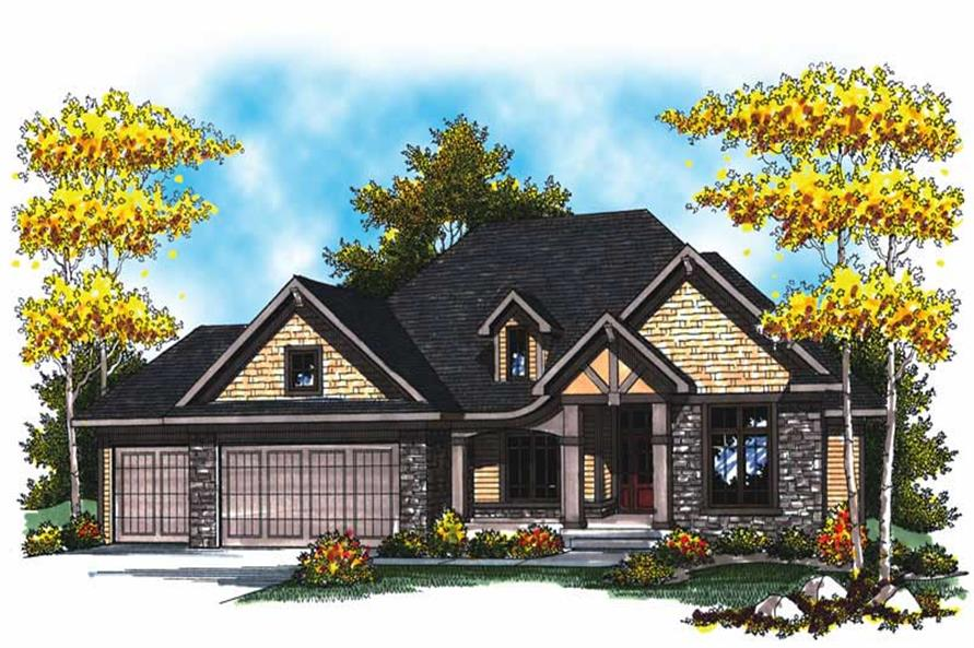 2-Bedroom, 2233 Sq Ft Colonial House Plan - 101-1838 - Front Exterior
