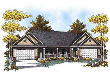 3-Bedroom, 2514 Sq Ft Multi-Unit Home Plan - 101-1839 - Main Exterior