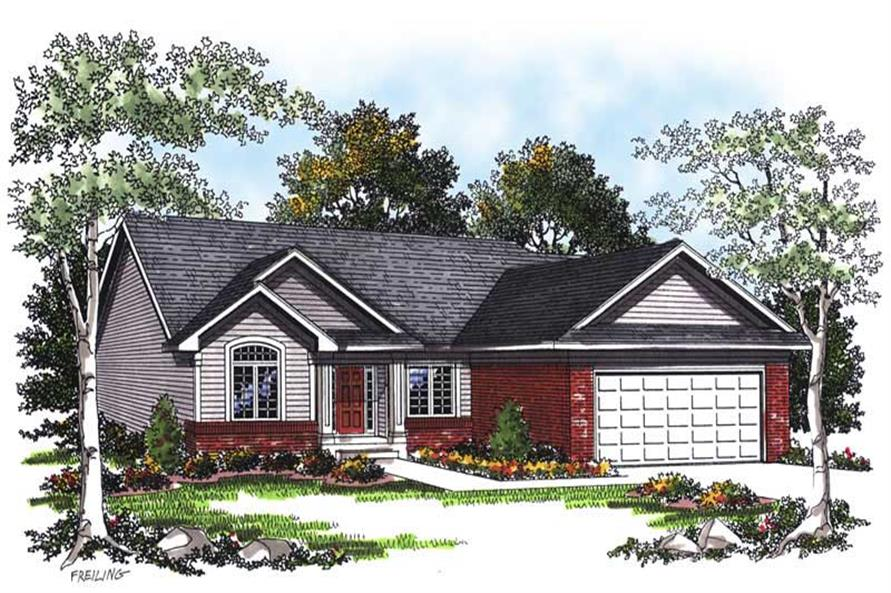 3-Bedroom, 1451 Sq Ft Ranch Home Plan - 101-1840 - Main Exterior