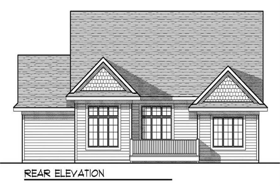 Home Plan Rear Elevation of this 2-Bedroom,1568 Sq Ft Plan -101-1841