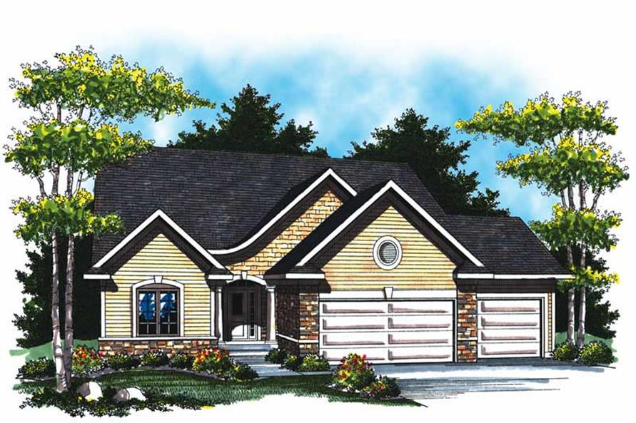 2-Bedroom, 1568 Sq Ft Country Home Plan - 101-1841 - Main Exterior