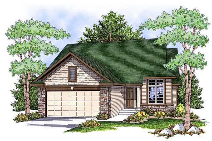 2-Bedroom, 1334 Sq Ft Ranch Home Plan - 101-1842 - Main Exterior