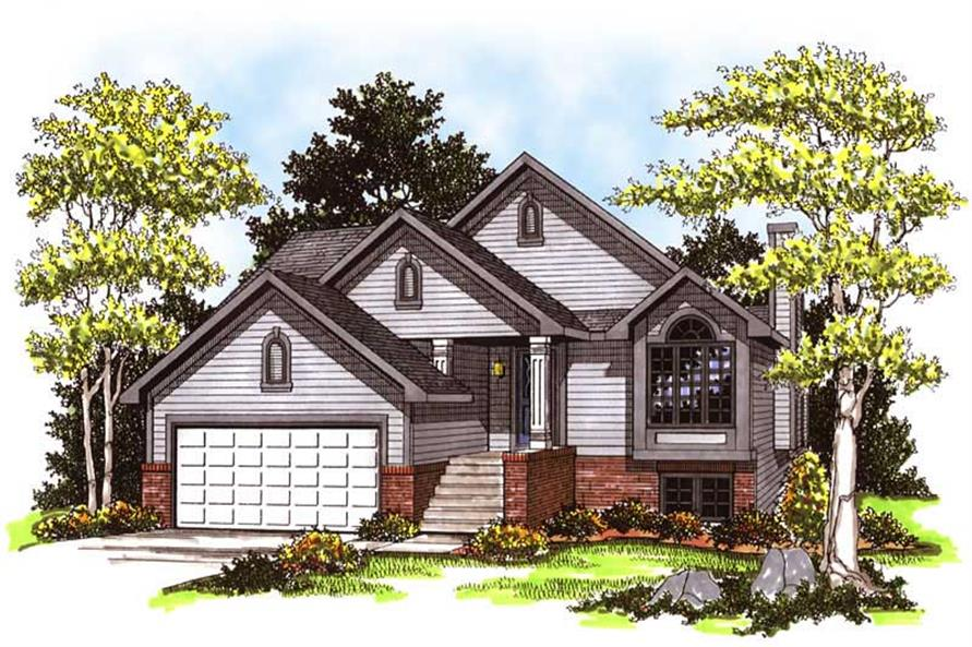 2-Bedroom, 1337 Sq Ft Ranch House Plan - 101-1847 - Front Exterior