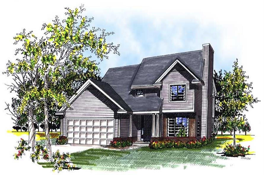 3-Bedroom, 1552 Sq Ft Country House Plan - 101-1848 - Front Exterior