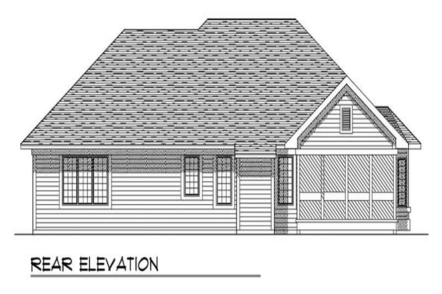 Home Plan Rear Elevation of this 3-Bedroom,1760 Sq Ft Plan -101-1849