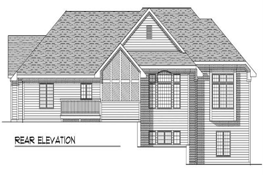 Home Plan Rear Elevation of this 3-Bedroom,3578 Sq Ft Plan -101-1850