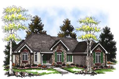 3-Bedroom, 3578 Sq Ft Craftsman House Plan - 101-1850 - Front Exterior