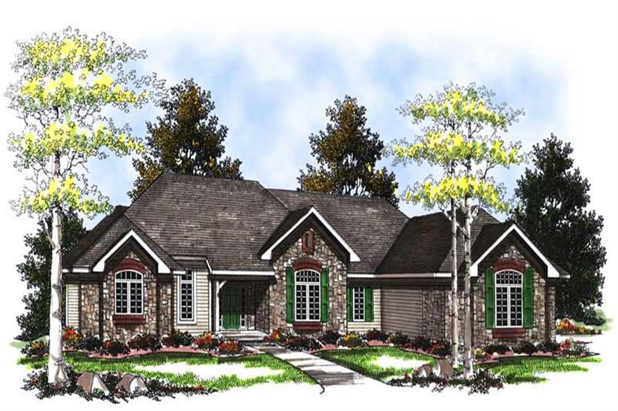 3-Bedroom, 3578 Sq Ft Craftsman House Plan - 101-1850 - Front Exterior