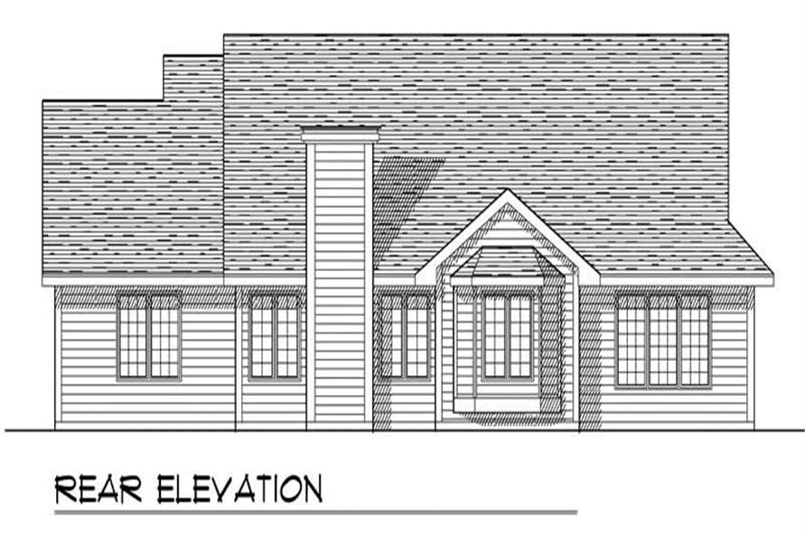 Home Plan Rear Elevation of this 3-Bedroom,1603 Sq Ft Plan -101-1851