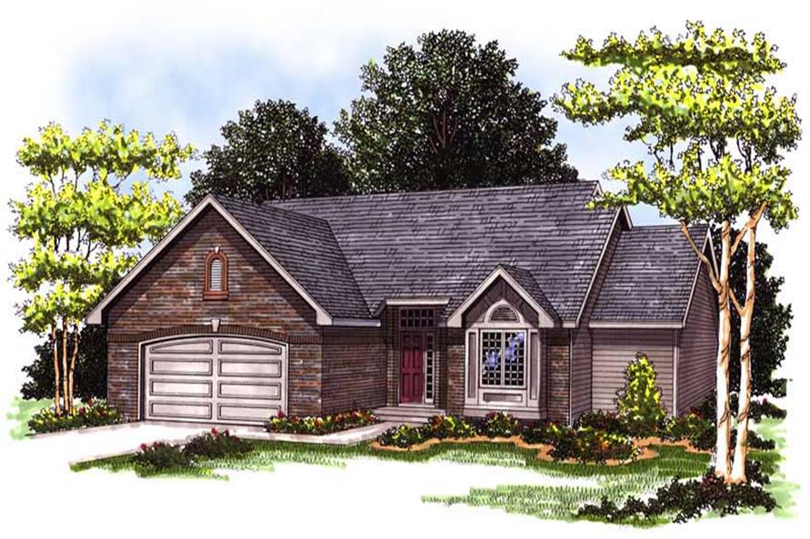 3-Bedroom, 1603 Sq Ft Ranch House Plan - 101-1851 - Front Exterior