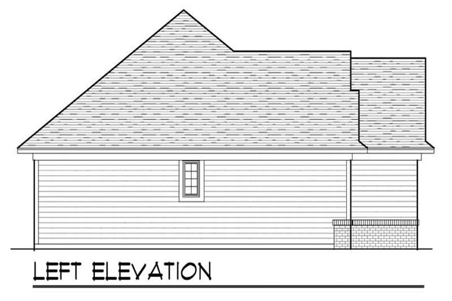 Home Plan Left Elevation of this 3-Bedroom,1540 Sq Ft Plan -101-1852