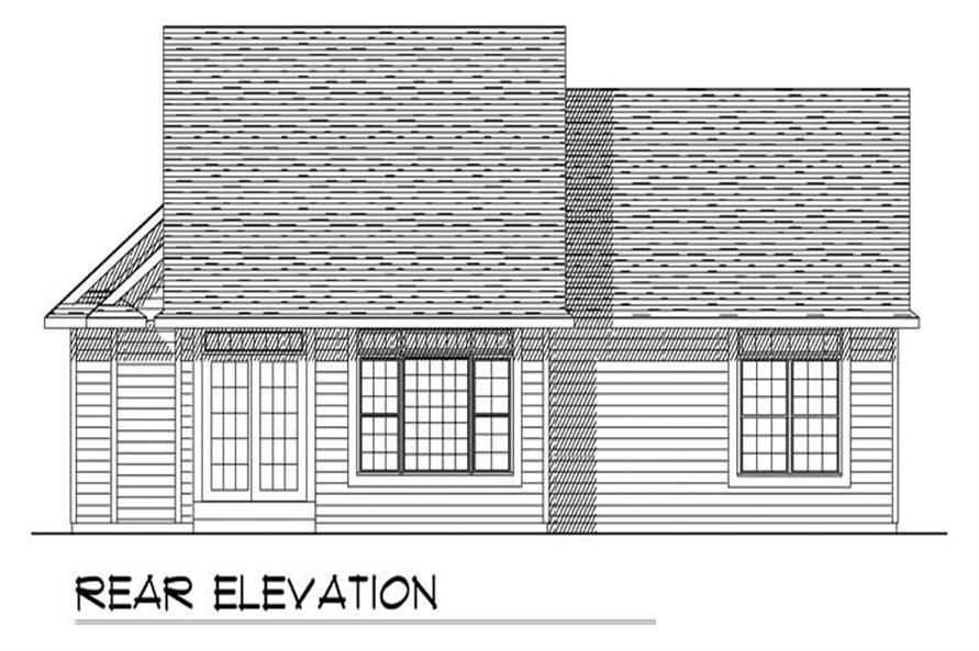 Home Plan Rear Elevation of this 3-Bedroom,1456 Sq Ft Plan -101-1853