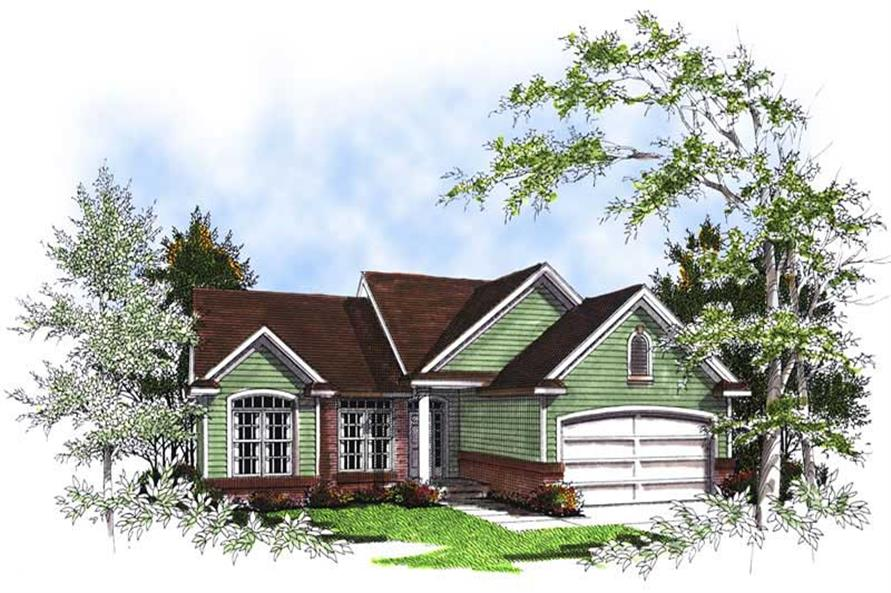 3-Bedroom, 1456 Sq Ft Bungalow House Plan - 101-1853 - Front Exterior