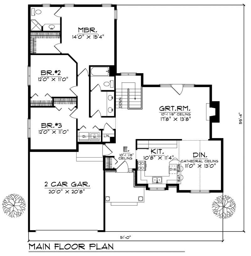 House Design 101: Ranch Home With 3 Bdrms, 1618 Sq Ft