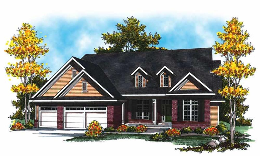 Main image for house plan # 17010