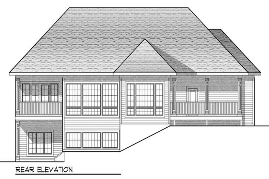 Home Plan Rear Elevation of this 3-Bedroom,2915 Sq Ft Plan -101-1863