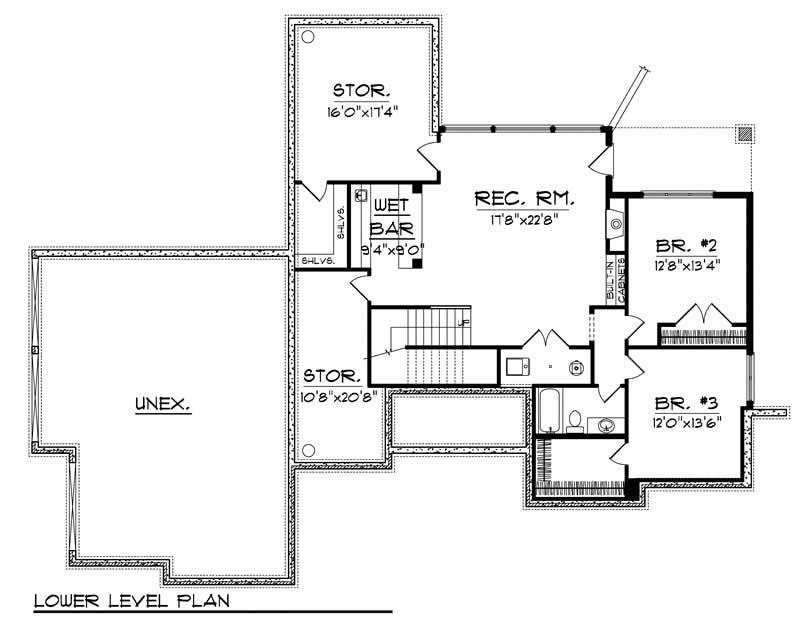 ranch home with 3 bdrms 2915 sq ft floor plan 101 1863. Black Bedroom Furniture Sets. Home Design Ideas