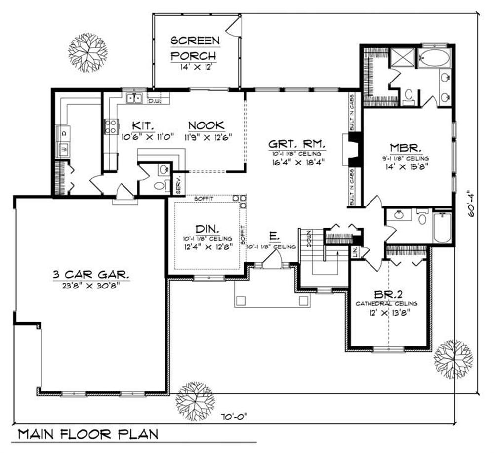 Large images for house plan 101 1864 for The house plan collection