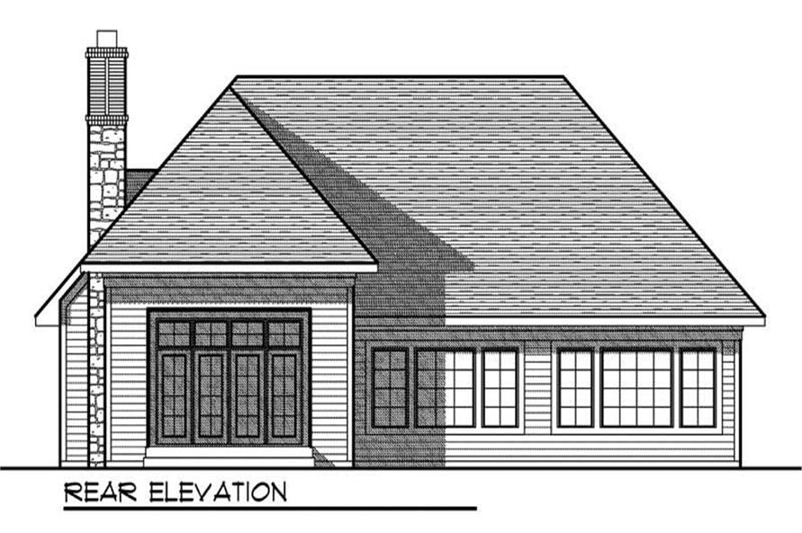Home Plan Rear Elevation of this 2-Bedroom,1895 Sq Ft Plan -101-1867