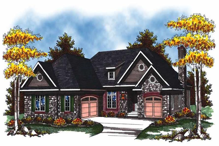 2-Bedroom, 1895 Sq Ft Country Home Plan - 101-1867 - Main Exterior
