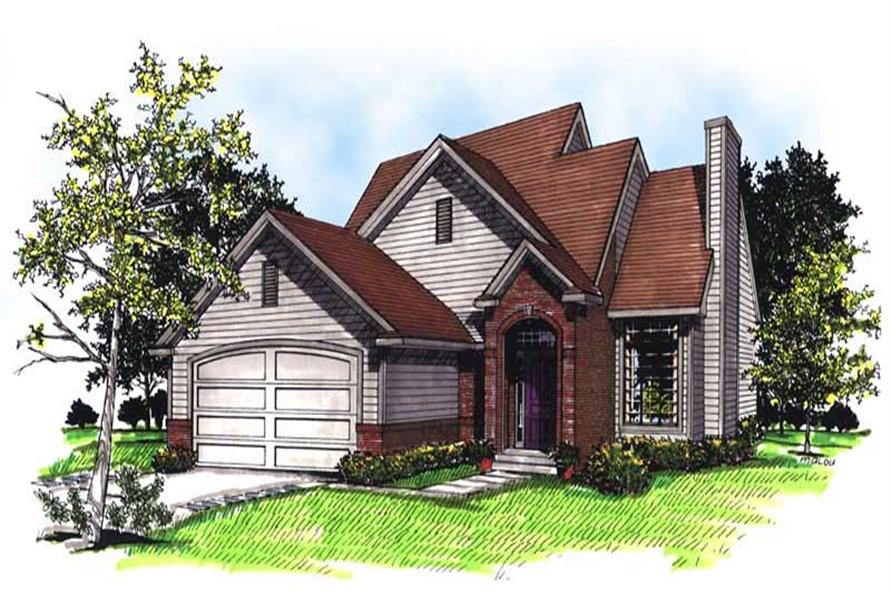 3-Bedroom, 1342 Sq Ft Bungalow House Plan - 101-1868 - Front Exterior