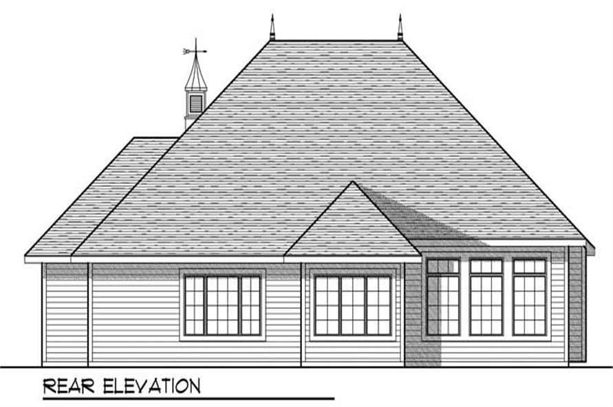 Home Plan Rear Elevation of this 2-Bedroom,1829 Sq Ft Plan -101-1869