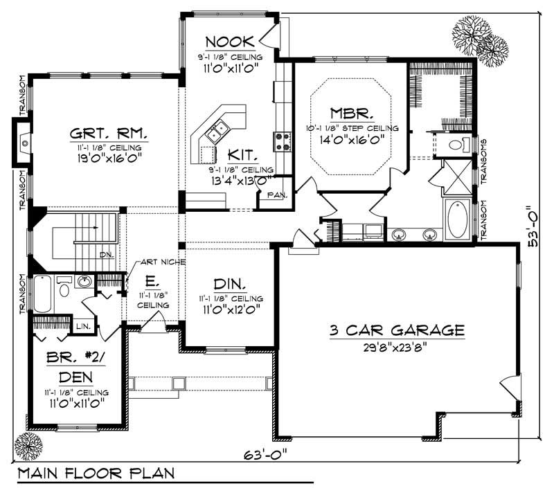 House Plan 101 1869 2 Bedroom 1829 Sq Ft Country