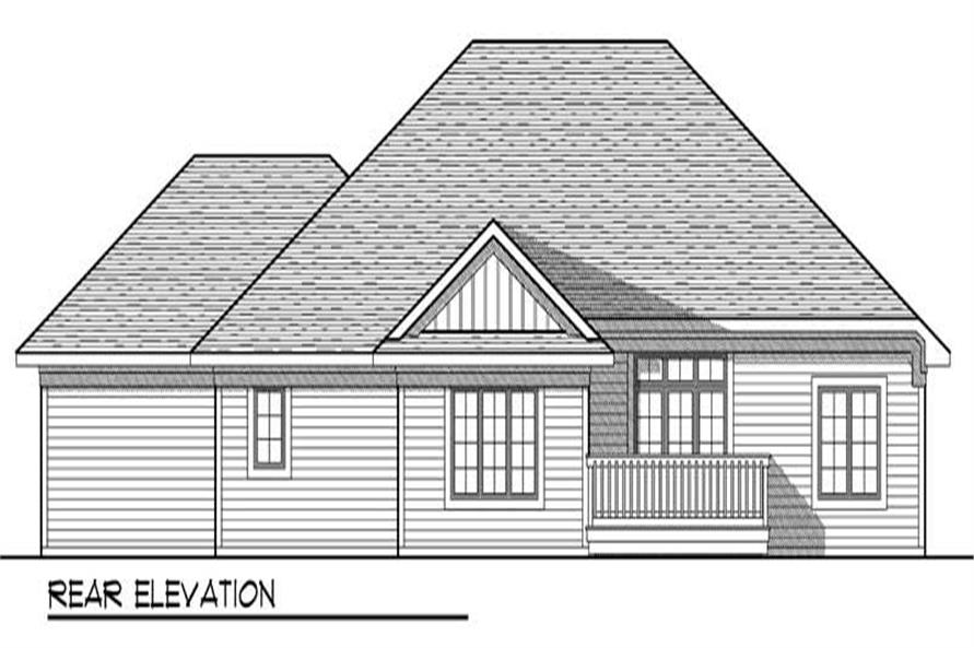 Home Plan Rear Elevation of this 3-Bedroom,1694 Sq Ft Plan -101-1870