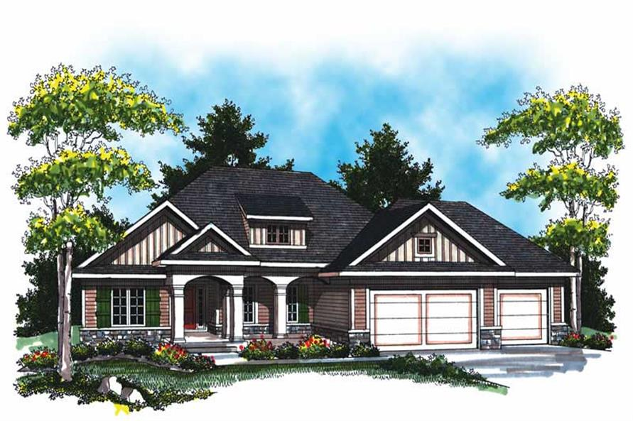 3-Bedroom, 1694 Sq Ft Country House Plan - 101-1870 - Front Exterior