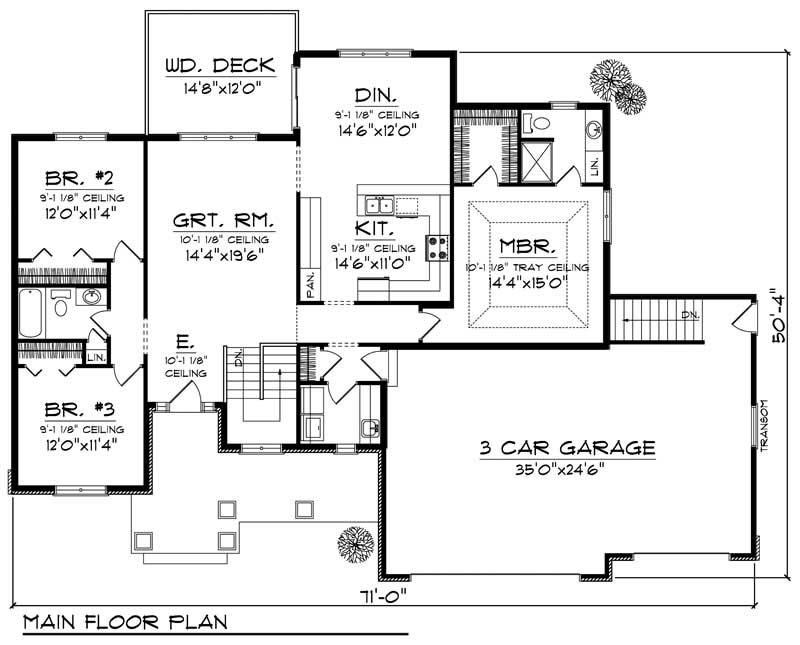 Country European Home With 3 Bedrooms 1694 Sq Ft