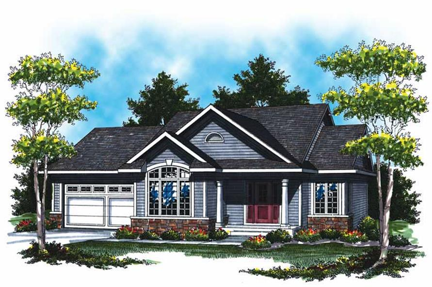 2-Bedroom, 1047 Sq Ft Mediterranean House Plan - 101-1871 - Front Exterior