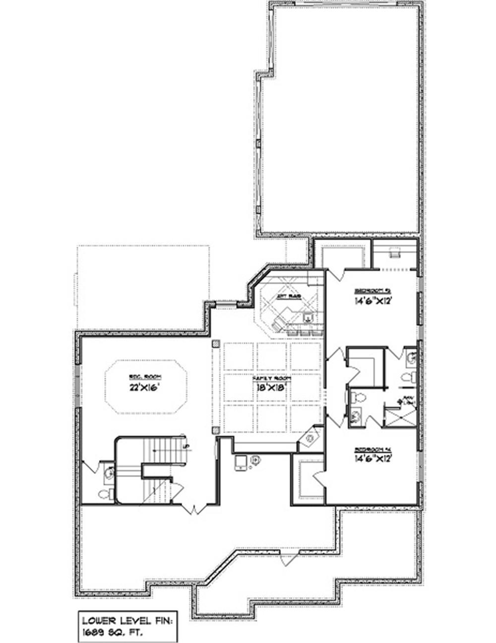 101-1874: Floor Plan Basement