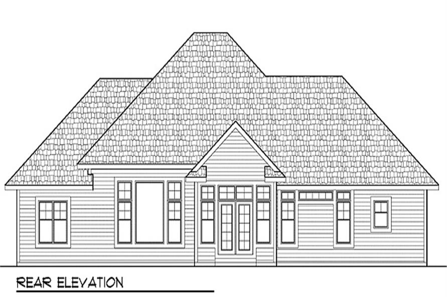 101-1875: Home Plan Rear Elevation