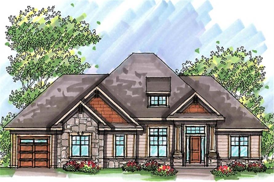 101-1875: Home Plan Rendering
